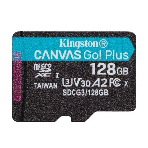 Карта памяти MicroSDXC 128GB Kingston Class UHS-I U3 V30 Canvas Go (SDCG2/128GBSP)