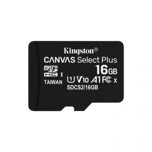 Карта памяти MicroSDHC 16GB Kingston Canvas Select 80R CL10 UHS-ISP (SDCS/16GBSP)