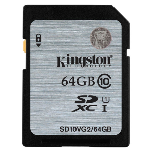Флеш карта SD 64GB Kingston SDXC Class 10 UHS-I (SD10VG2/64GB)