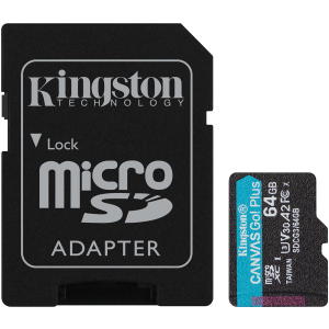 Карта памяти Kingston Micro SDXC Canvas Go 64GB