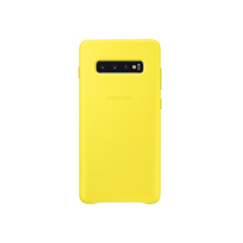 Чехол для Samsung Galaxy S10+ Leather Cover yellow