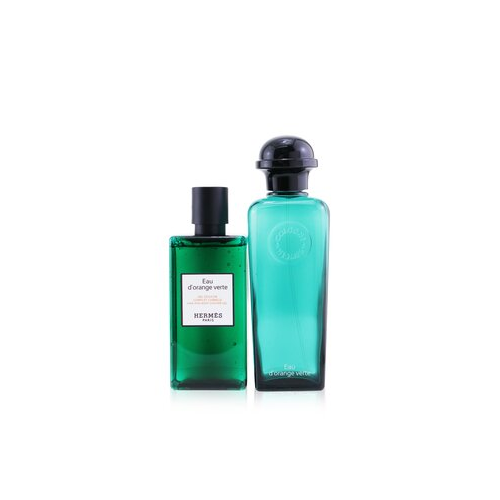 Hermes Eau D'Orange Verte Set: Eau De Cologne Spray 100ml/3.3oz + Hair And Body Shower Gel 80ml/2.7oz 2pcs