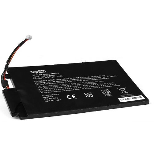 Аккумулятор для ноутбука HP TopOn TOP-EL04XL TouchSmart 4, Envy 1000, 4-1000 Series. 14.8V 3200mAh 48Wh. PN: HSTNN-UB3R, EL04XL, TPN-C102, 681879-121