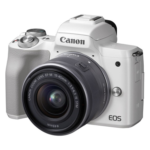 Фотоаппарат CANON EOS M50 kit ( 15-45 IS STM), белый [2681c012]