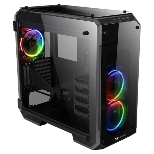Компьютерный корпус Thermaltake View 71 TG без БП (CA-1I7-00F1WN-01) black/transparent