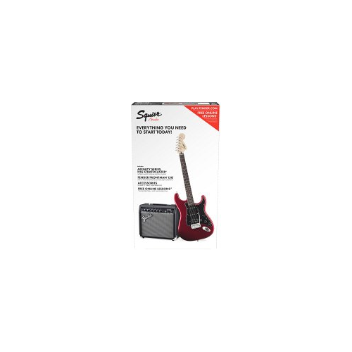FENDER Squier Affinity Series™ Stratocaster® HSS Pack, Laurel Fingerboard, Candy Apple Red, Gig Bag, 15G - 230V EU