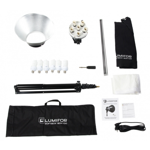 Комплект студийного света Lumifor MIRA LFL-632 SR Kit, флуоресцентный, 6х32 Вт LFL-632SR KIT